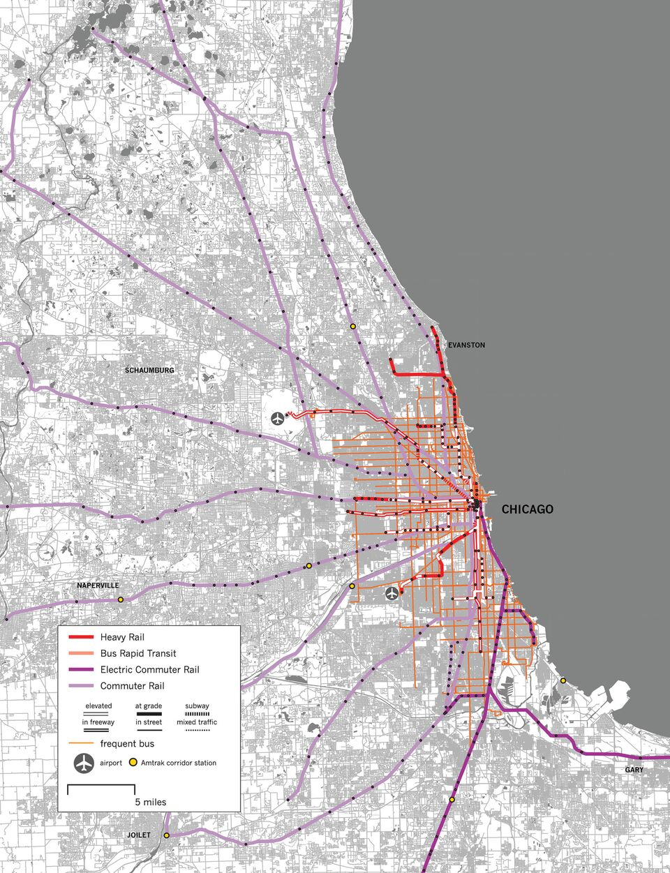 Evanston Subway Map.Chicago Archives Human Transit