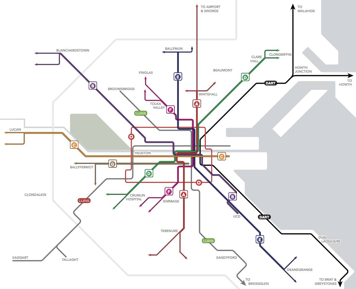 What is a Spine? — Transit Draw Network Map on