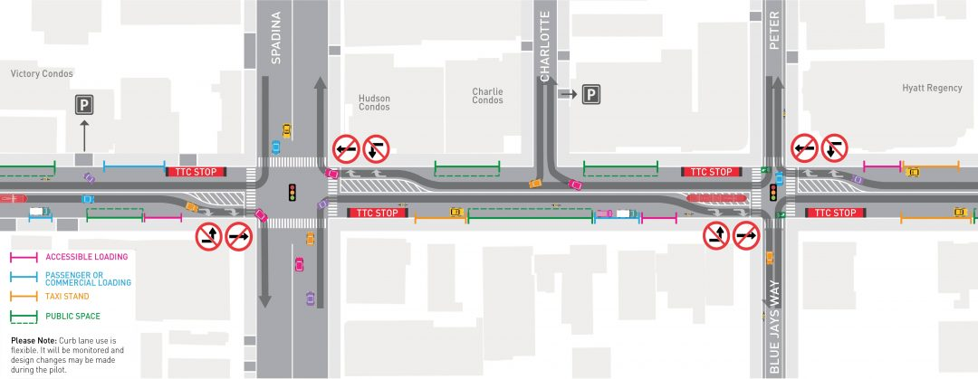 King Street Pilot Plan Diagram excerpt