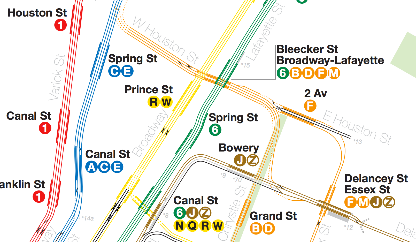 The Pleasure Of Track Maps  Human Transit - Nyc map canal street